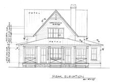 2 341 Sq Ft Four Gables L Mitchell Ginn Associates Picturesque House Plan Pictures Cottage Floor Plans, Dream House Plans, House Floor Plans, Modern Farmhouse Exterior, Farmhouse Plans, Farmhouse Design, Farmhouse Style, House Plans With Pictures, Gable House