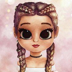Kawaii Girl Drawings, Cute Girl Drawing, Girly Drawings, Cartoon Girl Drawing, Cartoon Drawings, Cute Girl Wallpaper, Cute Disney Wallpaper, Cute Cartoon Wallpapers, Cartoon Kunst