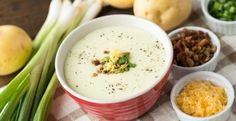 This creamy potato soup includes all the toppings of a loaded baked potato and is ready in a matter of minutes!