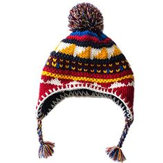 Home Prefer Baby Girls Boys Christmas Candy Jacquard Winter Hats Warm Earflap Beanie with Pom M Home Prefer http://www.amazon.com/dp/B017RGD920/ref=cm_sw_r_pi_dp_mmWzwb04VYR7S