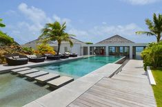 Villa Casa Del Mar (WV CMA) in Petit Cul de Sac, St. Barthelemy from WIMCO Villas. Ponds Backyard, Backyard Retreat, Backyard Patio, Small Backyard Design, Backyard Designs, Small Pools, Beautiful Pools, Dream Pools, Swimming Pool Designs