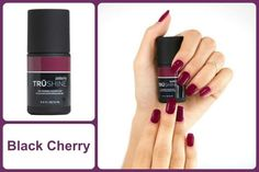 Black Cherry Classic Top Coat TruShine Gel Enamel  www.debsjaminails.jamberrynails.net