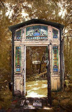 doorway in the woods