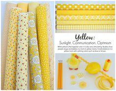 Riley Blake Designs Blog: Color Stories: Yellow #iloverileyblake #colorstories #yellowfabric