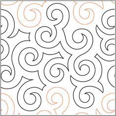 Jessie's Swirls - digital quilting pantograph by Jessica Schick