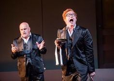 Christopher Purves and Clive Bayley in Don Giovanni, in Richard Jones's production for English National Opera.