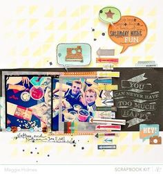 Saturday Night Fun {Main Kit Only} by maggie holmes - Studio Calico April Kits