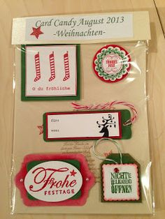 "Heikes Kreativseite: Card Candys zum Thema "" Weihnachten "" Best Candy, Candy Cards, Craft Fairs, Embellishments, Paper Crafts, Scrapbooks, Christmas, Fun, Boxes"