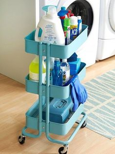 I love IKEA! Their units seem to be asking to hack them, and today I'd like to share some ideas for IKEA Raskog kitchen cart and ways to use it. Raskog Ikea, Laundry Room Organization, Organization Hacks, Laundry Rooms, Laundry Decor, Ikea Laundry, Laundry Storage, Ikea Cart, Organizing Your Home