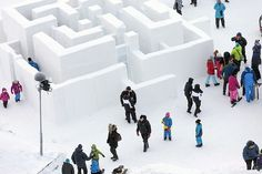 Sweden's ice playground, complete with an ice-made maze, slides and seating, is the perfect winter friendly playground. This #LQC intervention takes advantage of the cold weather and makes #Placemaking seasonally-sensitive