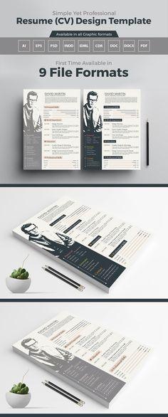 free infographic resume design template ai file 4