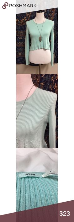 Really cute Kimchi crop sweater! This sweater is so cute! I'm just a little taller so it's a shorter crop on me! Otherwise, it's the absolute cutest! Kimchi Blue Tops