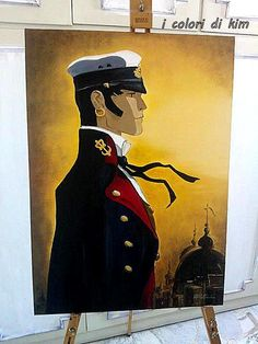 Corto Maltese Oil on canvas 50x 70