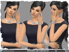 Diamonds Are Forever V2 Set by Devilicious at TSR via Sims 4 Updates