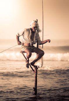 Sri Lankan Stilt Fishermen. #VisitSriLanka
