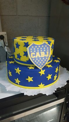 Boca Juniors - torta de cumpleaños #futbolbocajuniors Soccer Birthday, 10th Birthday, Birthday Cake, Paw Patrol Party, Shoulder Bags For School, Ideas Para Fiestas, Cake Boss, Cake Designs, Fondant