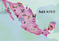 Mexican Map, 2014, (mixed media)