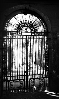 The old gate from Imperial Academy of Fine Arts of Rio de Janeiro. Designed by Grandjean de Montigny.