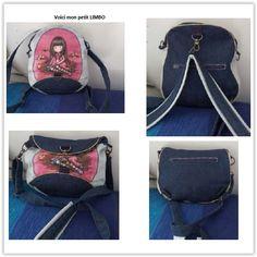 Sac à dos trasformable Limbo cousu par NiniP24 - Tissu(s) utilisé(s) : jeans - Patron Sacôtin : Limbo