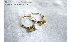 Blossom Bohemian mini créoles noires Sun #theblossombohemian #creoles #pampille #doré #golden #hoop #earrings #noir #black #boucles #sun #ss15 #fashion #bijoux #jewellery #jewels