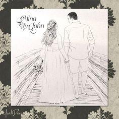 Invitatii de nunta la comanda cu portret si ilustratii - Portret Plus - yorkdeco.ro Wedding Ideas, Art, Craft Art, Kunst, Gcse Art, Wedding Ceremony Ideas, Art Education Resources