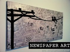 Newspaper canvas
