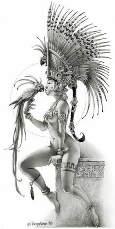 """First Legion is raising funds for Stunning Resin Fantasy Miniatures on Kickstarter! Incredibly Sculpted and Cast Resin """"Femmes Fatales"""" Provocative Fantasy Figure Kits for Collectors and Artists Comic Kunst, Comic Art, Fantasy Kunst, Fantasy Art, Character Art, Character Design, Aztec Warrior, Aztec Art, Desenho Tattoo"""