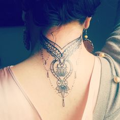 Nape Indian tattoo
