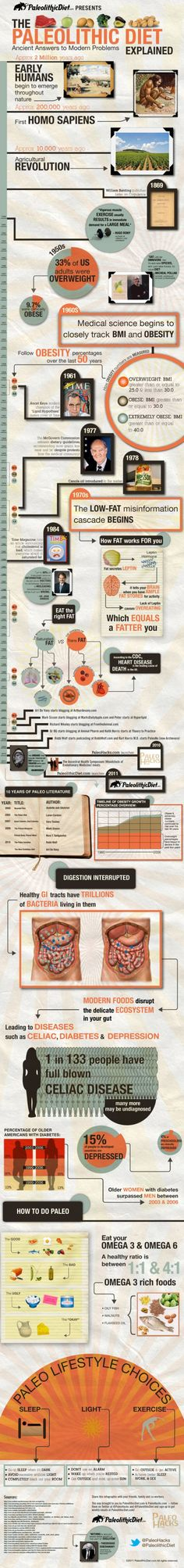 """Paleo Diet Infographic. Not to go obsessive/compulsive, but maybe it's time we looked at the funky """"modern"""" food we've been eating, and say, """"Maybe this isn't good to have every day!"""""""
