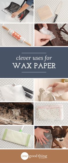 Wax paper...it's not just for wrapping sandwiches anymore! Check out these other slick ways it can be put to use!