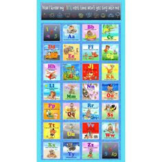 "Alphabet Friends Panel 24"" x 44""~Children's Cotton Fabric by~Studio E~Fast Shipping CH231"