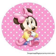 Minnie mouse bebe en dibujo
