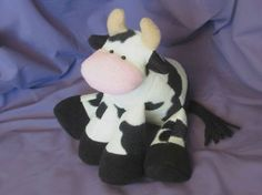 Patty the Cow Soft Toy Pattern | YouCanMakeThis.com