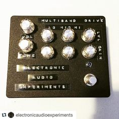 Repost @electronicaudioexperiments:  Updated the multiband prototype with channel volumes for @quiethouserecording