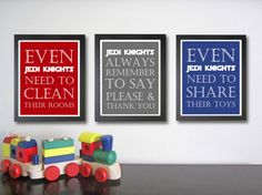 Even |Jedi Knights | need to clean/say thank you/share wall art. I think that is a great idea for star wars loving kiddos