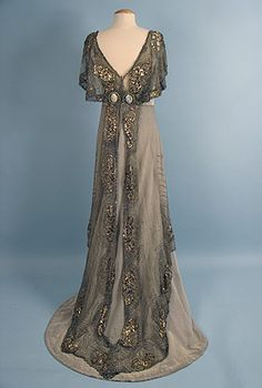 Jacques Doucet (French, 1871?1929)  Evening Gown, c. 1911 (back)