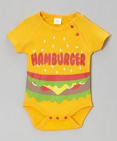 Look at this #zulilyfind! Hollywood Mirror Orange 'Hamburger' Bodysuit - Infant by Hollywood Mirror #zulilyfinds