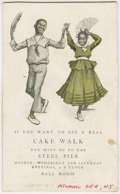 Ad for Cake Walk contest in Atlantic City, NJ
