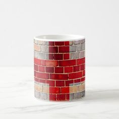 England flag on a brick wall coffee mug