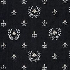 Bee De Lys Black fabric--use this for piano bench cushion