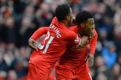 Fulltime at Anfield - Liverpool win 2-1 after goals from Sterling and Sturridge