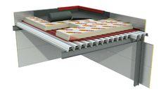 Устройство плоской крыши из профнастила