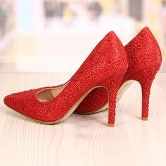 Poze Pantofi Stiletto Maximo Rosii Cod: 787