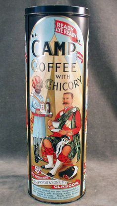 Vintage Coffee Tin - Paterson Camp Coffee with Chicory