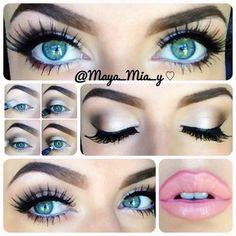 ".@maya_mia_y   ""Something light"" pictorial using only 2 eyeshadows. 1.Prime the l...   Webstagram - the best Instagram viewer"