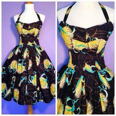 60\u2019s ALFRED SHAHEEN Maxi Skirt,Hawaiian Maxi Skirt Blue Floral Print ML Signed Vintage SHAHEEN Skirt