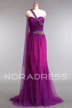 Tulle Sweetheart Elastic Satin Hall Evening Dress With Embroidery - Noradress