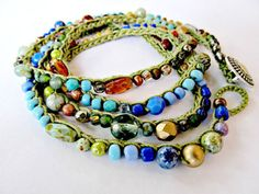 five different approaches to crocheted jewelry - handmade by ...