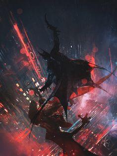 batman-vs-the-man-bat-in-striking-fan-art