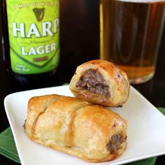 Ahhh....Sausage Rolls. Oh how I've missed you! I was able to have a good old Sausage Roll practically anytime I wanted while living in Ireland. They are sold in many bakeries and convenience stores...